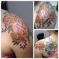 marigolds by cat johnson tattoonow