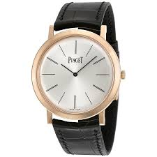 piaget altiplano piaget altiplano mechanical silver leather men s