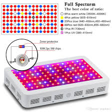 what color light do plants grow best in 1200w double chips led grow light full spectrum 380 730nm plant grow