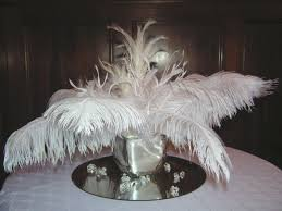 Great Gatsby Centerpiece Ideas by White Feather Centerpiece Great Gatsby Ideas For Prom