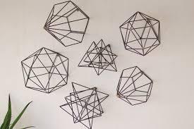 beautiful design geometric metal wall art creative geometric metal
