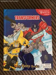 transformers busy book sighted at us retail