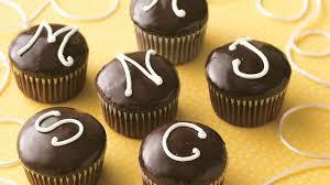 monogrammed filled cupcakes recipe bettycrocker