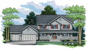 farmhouse plan with two elevations 14312rk architectural