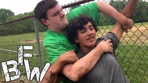 backyard wrestling nick archer vs false hood vs kevin sarrow vs
