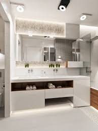 bathroom ideas led bathroom lighting vanity with frameless mirror