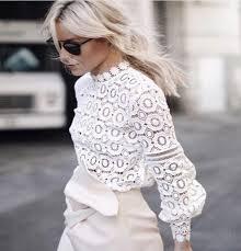 white lace blouses 2018 2016 arrive self portrait lace tops flower crochet lace