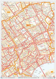 London Maps Map Of Greater London Postcode Districts Plus Boroughs And Major