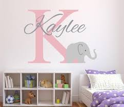 Wall Name Decals For Nursery Elephant Wall Decals Lovely Decals World