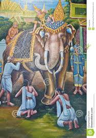 elephant painting on wall in temple stock images image 34626934