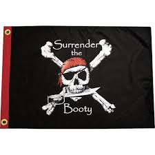 Boat Flags For Sale Amazon Com Surrender The Pirate Flag Classic Skull And