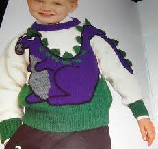 knitting pattern dinosaur jumper patons dinosaur sweater pattern
