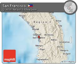 san francisco quezon map free shaded relief map of san francisco