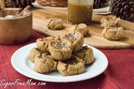 low carb sugar free salted caramel snickerdoodle cookies