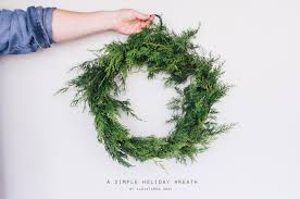 a simple holiday wreath cloistered away