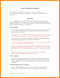 sample investment agreement business agreements investment