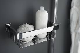 haceka edge metal wall mounted shower caddy u0026 reviews wayfair co uk
