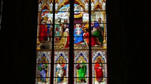 Cologne Cathedral Interior Cologne Köln Kölner Dom Interior Stained Glass Window Stock Video