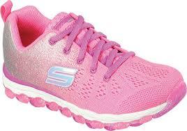girls skechers skech air ultra glitterbeam sneaker free shipping