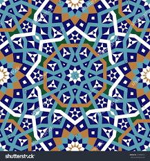seamless pattern moroccan style mosaic tile stock vector 111806015