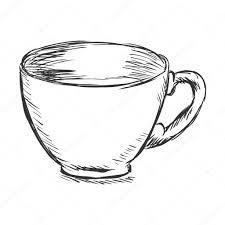 single sketch cup of coffee u2014 stock vector nikiteev 63678271