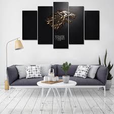 movie home decor 5 pieces game of thrones stark movie home decor wall art canvas