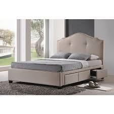 baxton studio armeena king size storage bed with upholstered