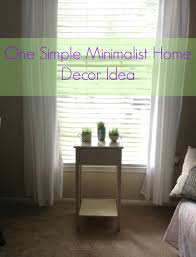 1 simple minimalist home decor idea