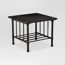 Patio Side Table Metal Fernhill Metal Square Patio Side Table Black Threshold Target