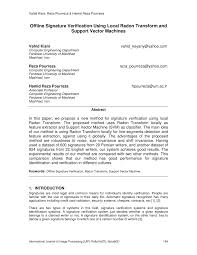 offline signature verification using local radon transform and