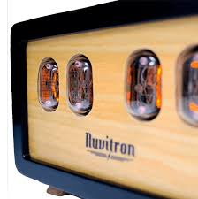 Coolest Clocks by Black Postmodern Nixie Tube Clock By Nuvitron