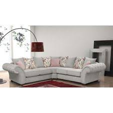 Grey Silver Sofa Corner Sectional Sofas Ebay