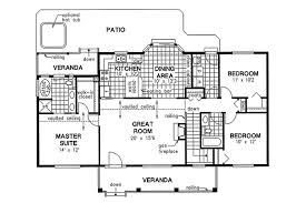 Kitchen And Great Room Floor Plans Country Style House Plan 3 Beds 2 00 Baths 1412 Sq Ft Plan 18 1036