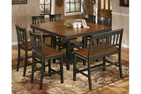 Owingsville Counter Height Double Bar Stool Ashley Furniture - Ashley furniture dining table black