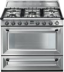 Smeg TRU90X 36 Inch Freestanding Dual Fuel Range with 5 Sealed