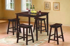 high top kitchen table set amazon com homelegance 5302c 18 saddleback 18 inch height