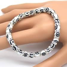 evil eye beads bracelet images 1pcs free shipping popular evil eyes bracelets wholesale white jpg