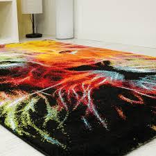 jugendzimmer teppich jugendzimmer teppich mit löwenkopf muster bunt neu ovp ebay