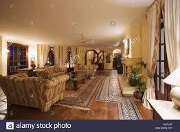 terracotta and moroccan floor tiles on floor of large