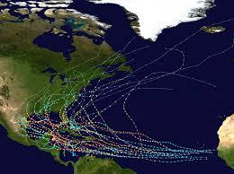 Map Of Western Hemisphere The Path Of Every Recorded Western Hemisphere Hurricane Vivid Maps