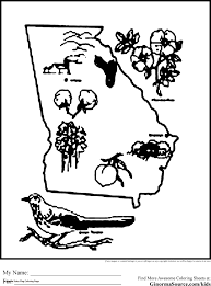 Georgia Flag State Georgia Coloring Pages Coloring Pages Pinterest Of Nebraska State