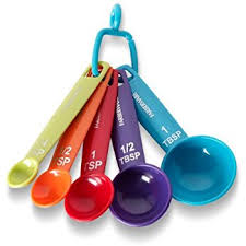 farberware color measuring spoons mixed colors set