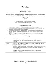 building a workshop appendix b workshop agenda building a national capability to