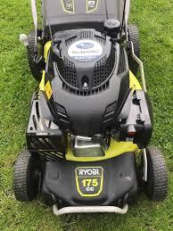 ryobi self propelled subaru engine 175cc petrol lawnmower in