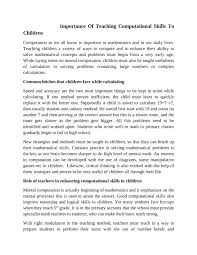 calaméo importance of teaching computational skills to children