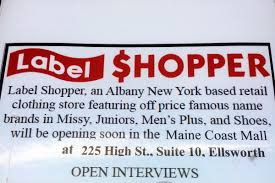 label shopper to open in august in maine coast mall the