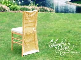 sequin chair covers wedding decoration made to order sparkly