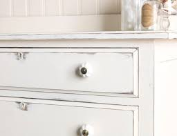 chest of drawers painted in chalk white shabby chic distressed