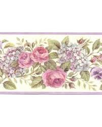 winter savings on 878758 rose and hydrangea wallpaper border