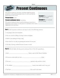 progressive verbs worksheets free worksheets library download